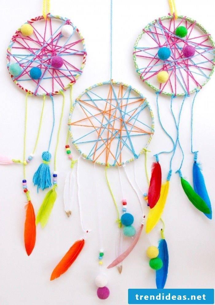 Great ideas for dreamcatcher crafts with children
