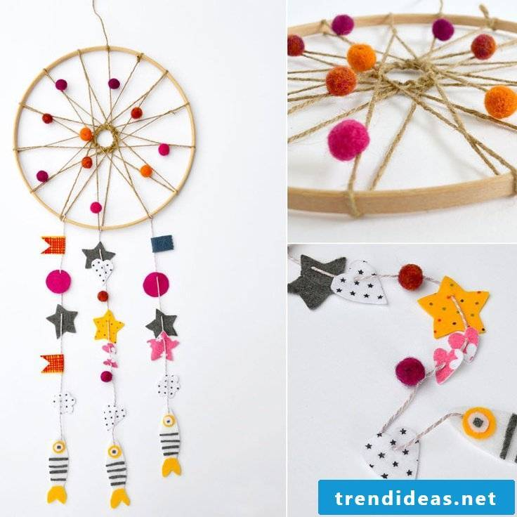 Instructions for dreamcatcher crafts with children