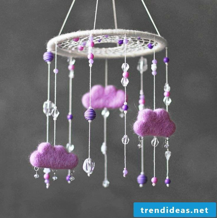 Ideas for dream catcher for baby bed