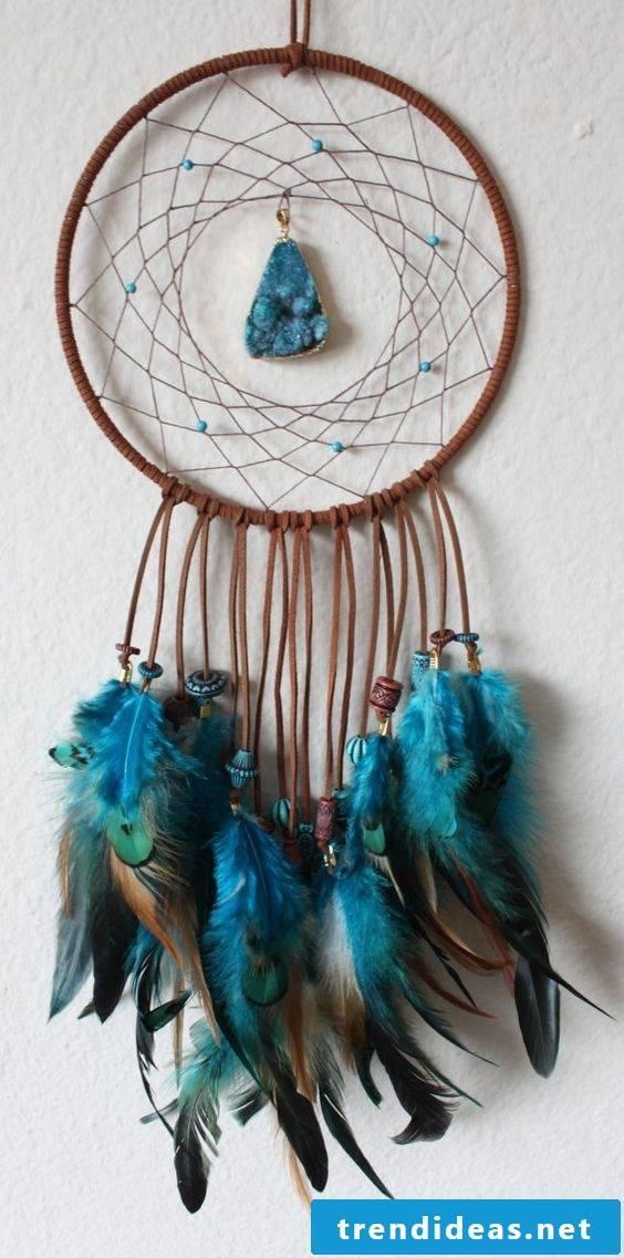 Dreamcatcher crafts made of natural materials