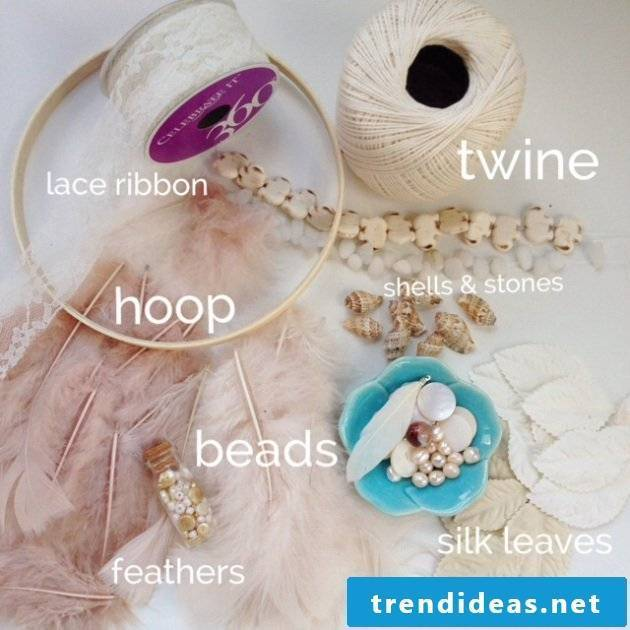 You can read the necessary materials for a dreamcatcher yourself here!
