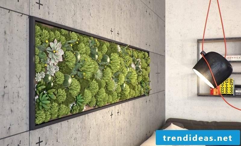 Light the vertical garden