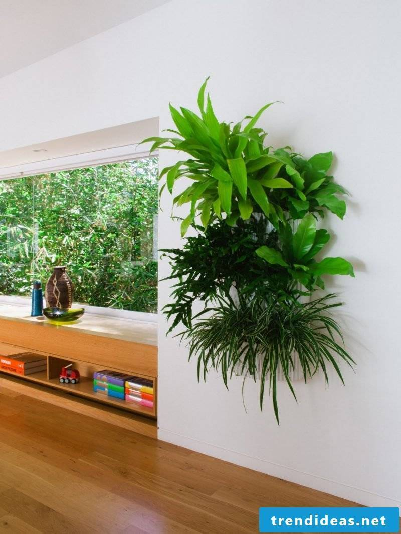 Use accents with the vertical garden