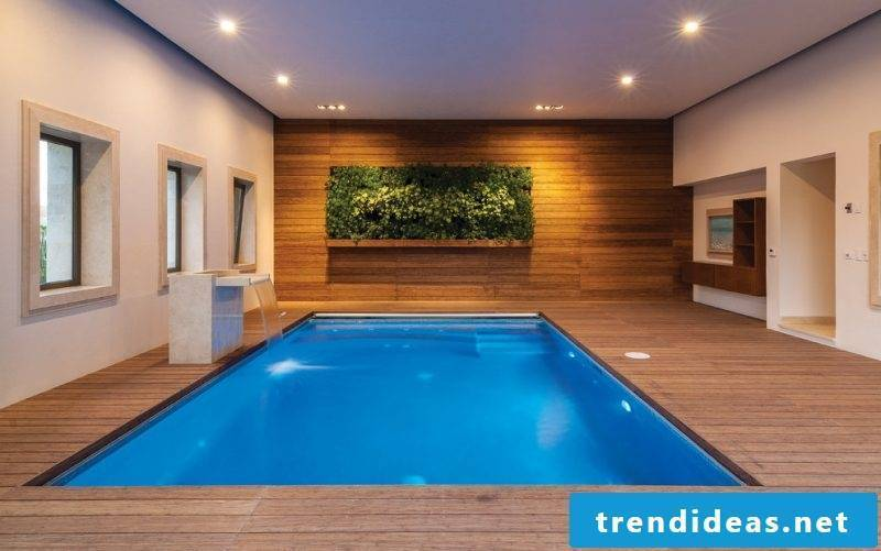 Vertical garden in the swimming pool