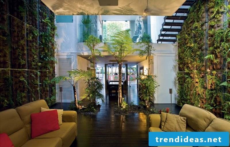 Vertical garden is perfect for large spaces