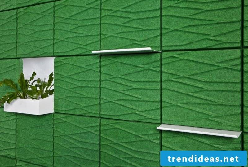 green acoustic panels