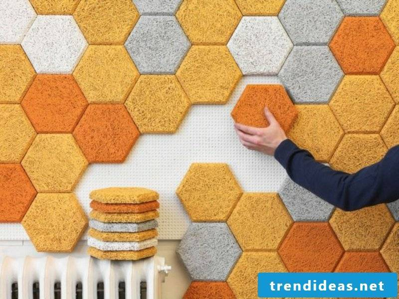 Wall cladding acoustic panels
