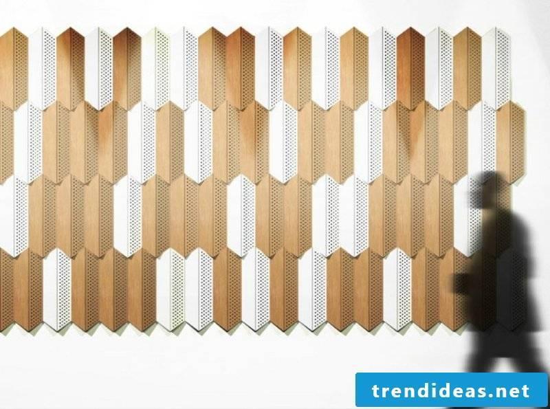 Wooden acoustic panels