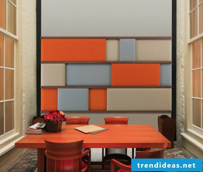 Accent wall acoustic panels