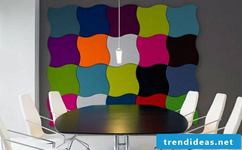 colorful acoustic panels