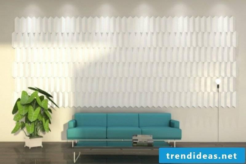 white acoustic panels