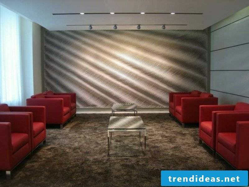 Acoustic panels accent wall