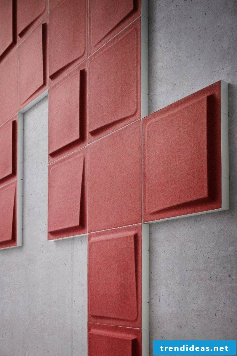 Acoustic panels in red