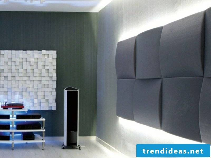 Acoustic panels in gray