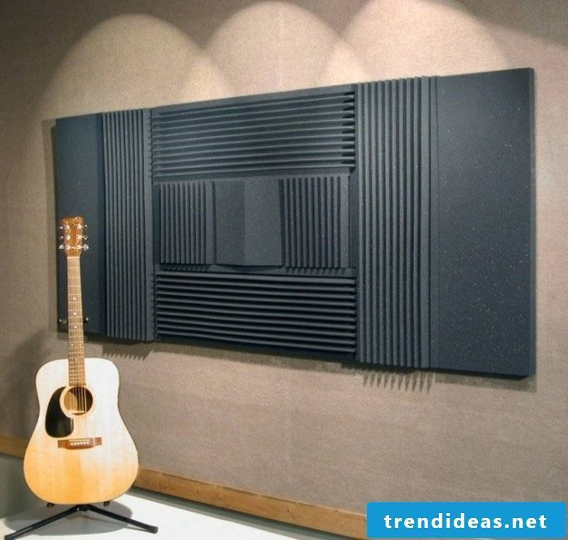 Wall covering acoustic plates music studio