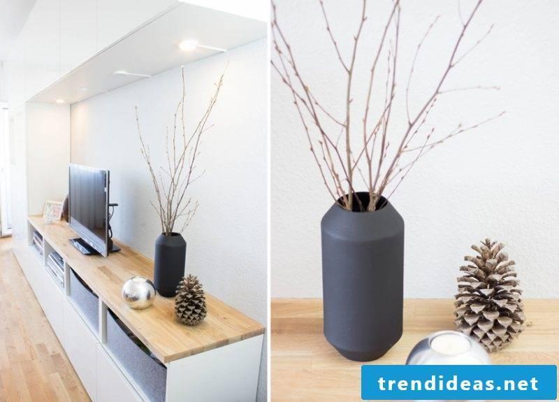 Ikea Besta shelf with wood top