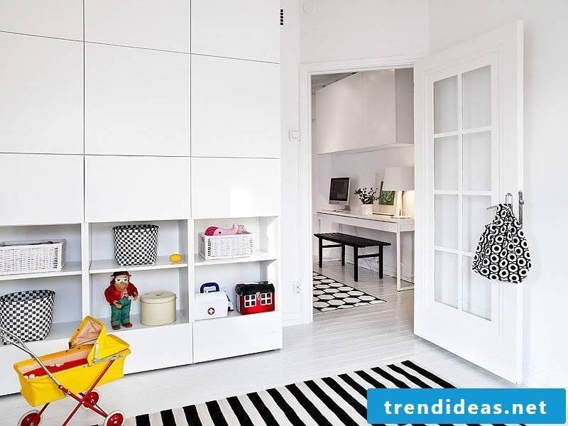 Ikea Besta shelf storage system for children's rooms