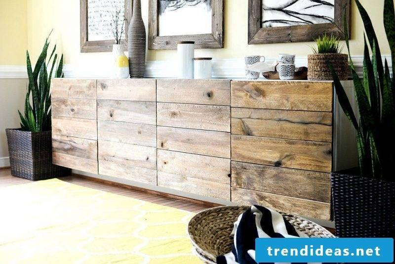 Ikea Besta Regal transform into wooden buffet