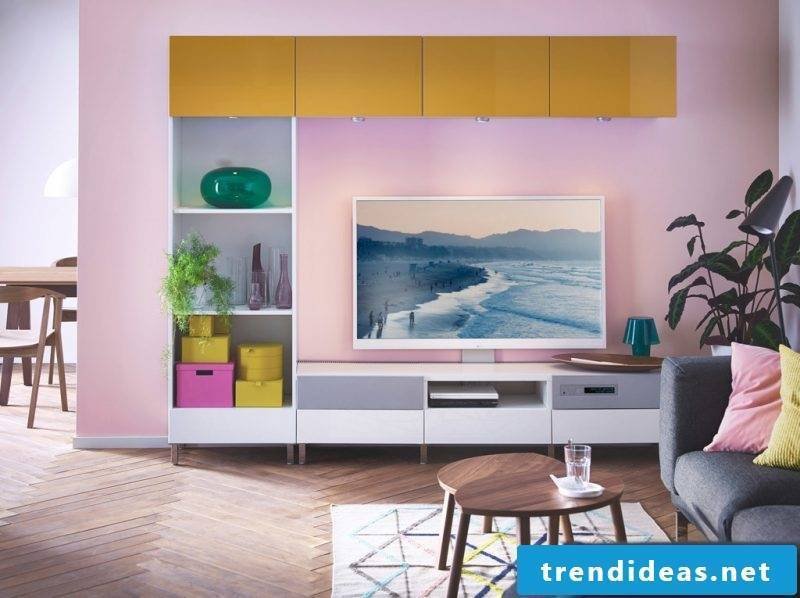 Ikea Besta Regal: each piece can have different color