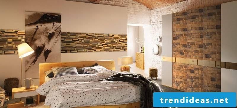 inside stone wall bedroom