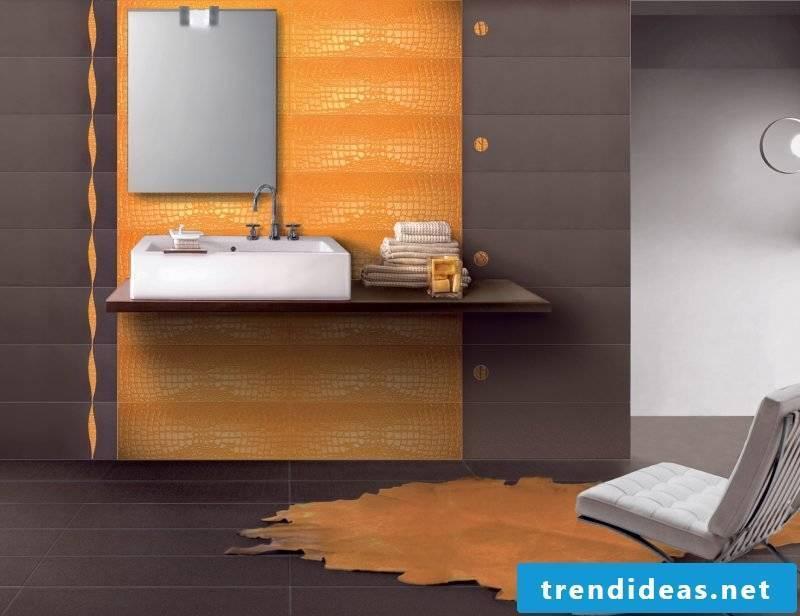 Italian tiles orange