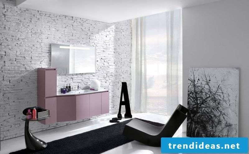 Italian tiles pink white
