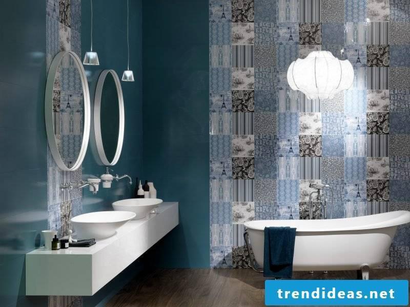 Italian tiles blue