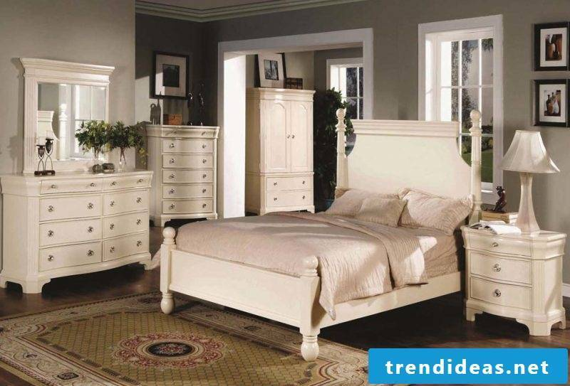 Bedroom decor furniture country house white design interior design ideas bed wood wardrobe bedside table