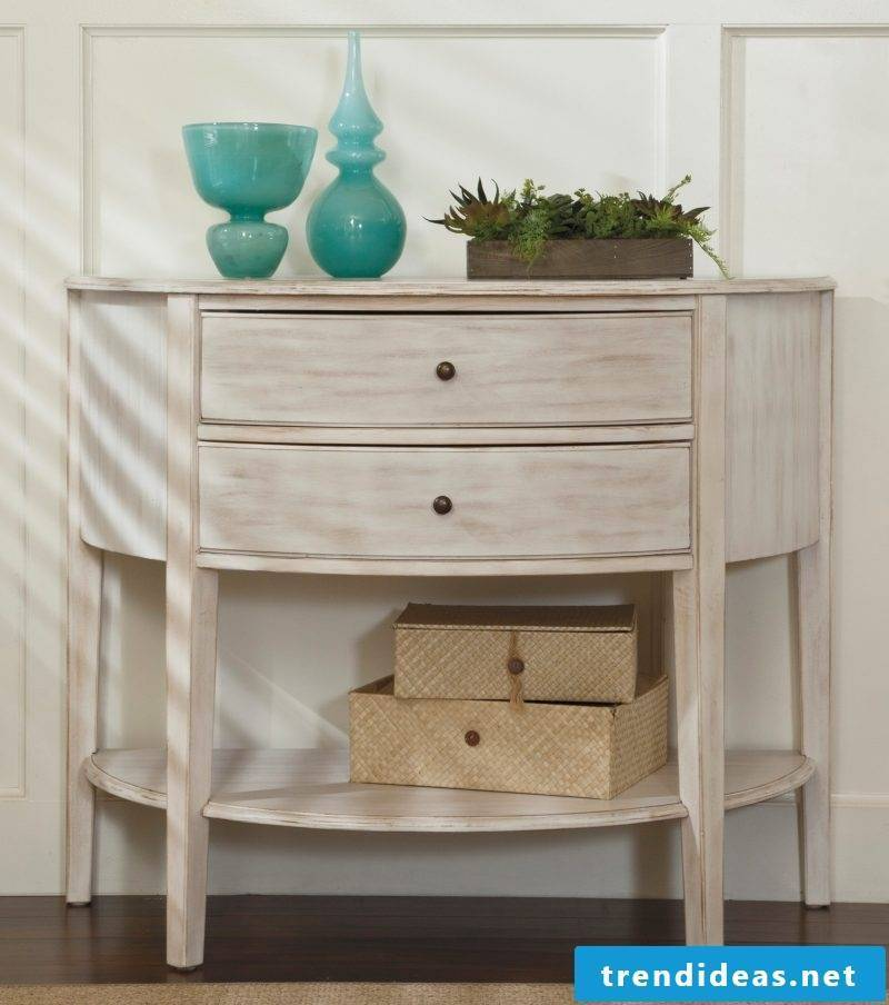 Furniture Country style white Console table white brown combination dekoideen accessoires