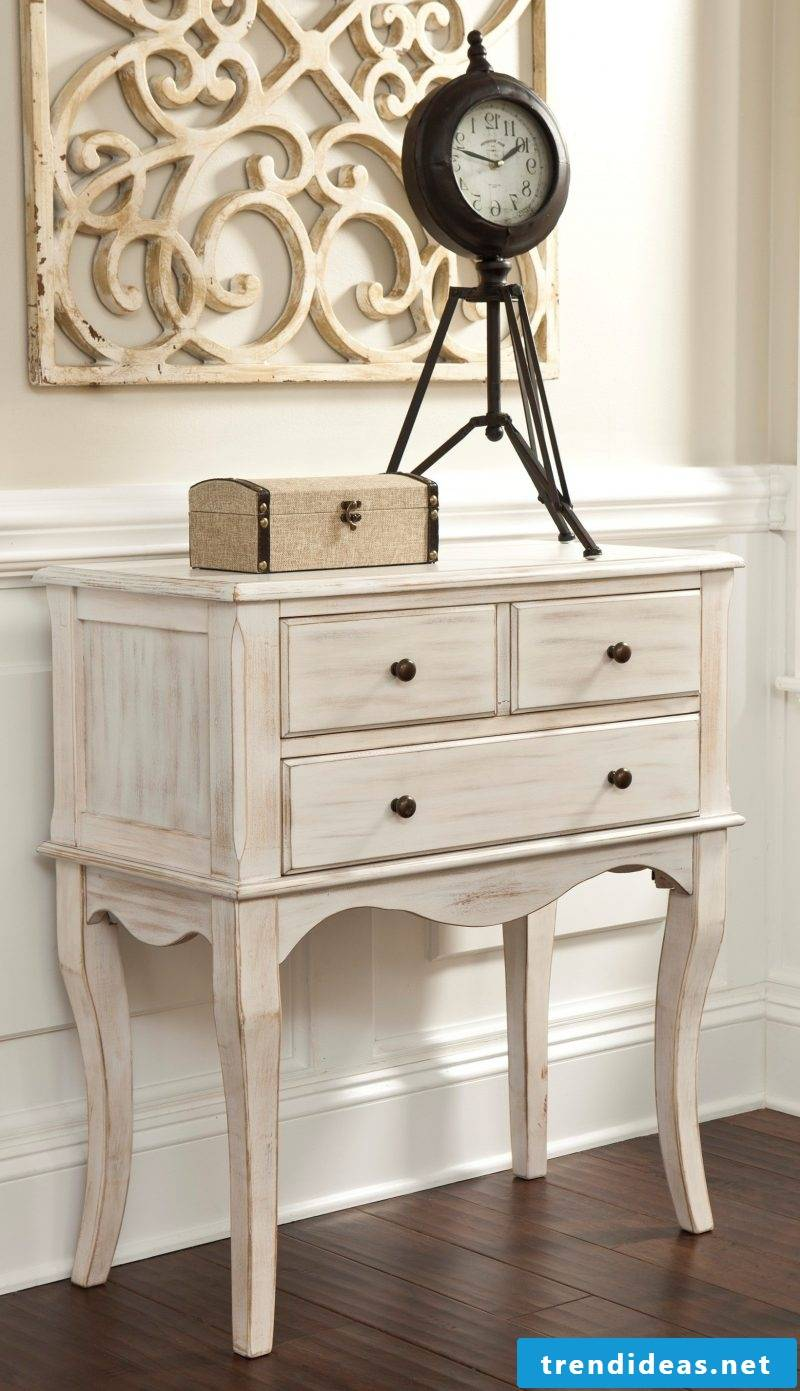 Furniture Country Style White Console Table Design Dekodeen Rustic Country Home Furniture Clock