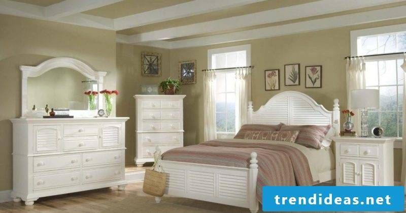 furniture country style white wooden bed bedroom furnish design villa furniture