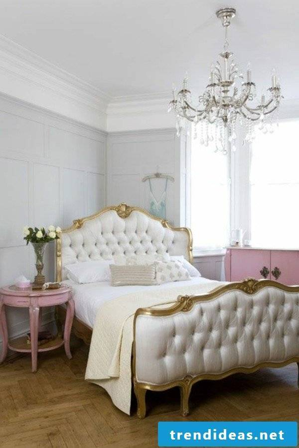 furniture country style white wooden bed antique design bedroom furnishings