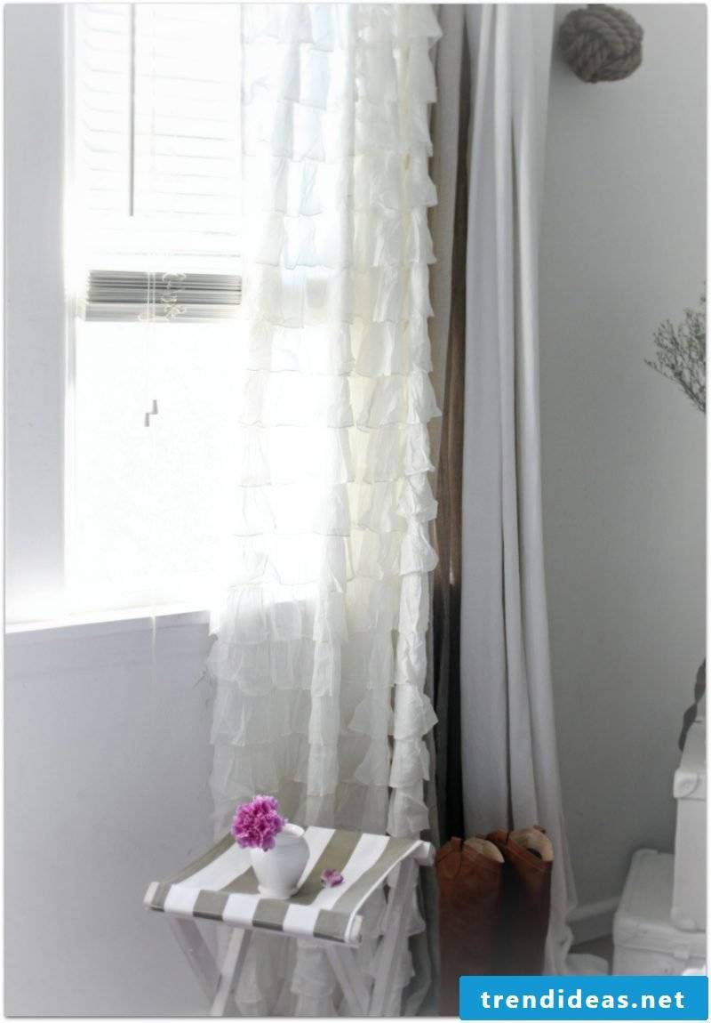 furniture country style white window design fendter decoration curtains table deco ideas