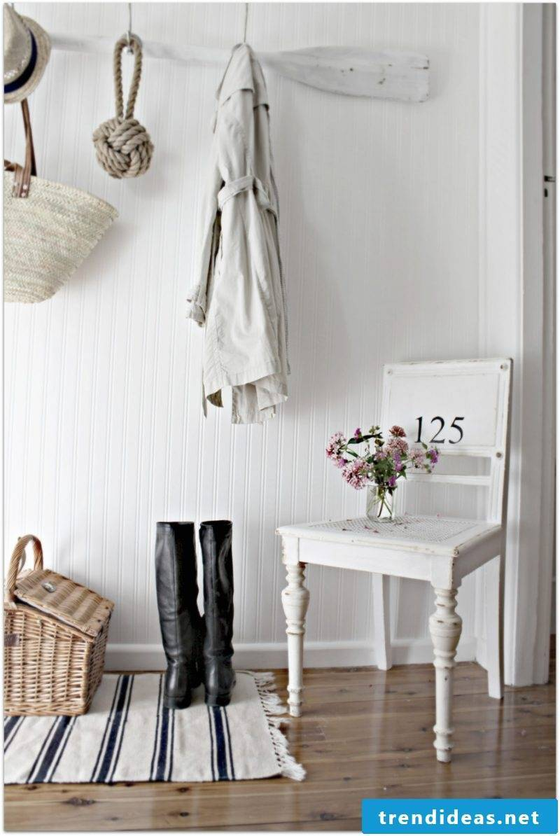country style furniture white chair wood deco decorating design