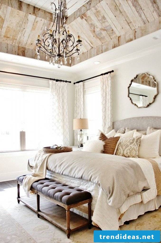 furniture country style white bed wood country look bedroom decor deco country house