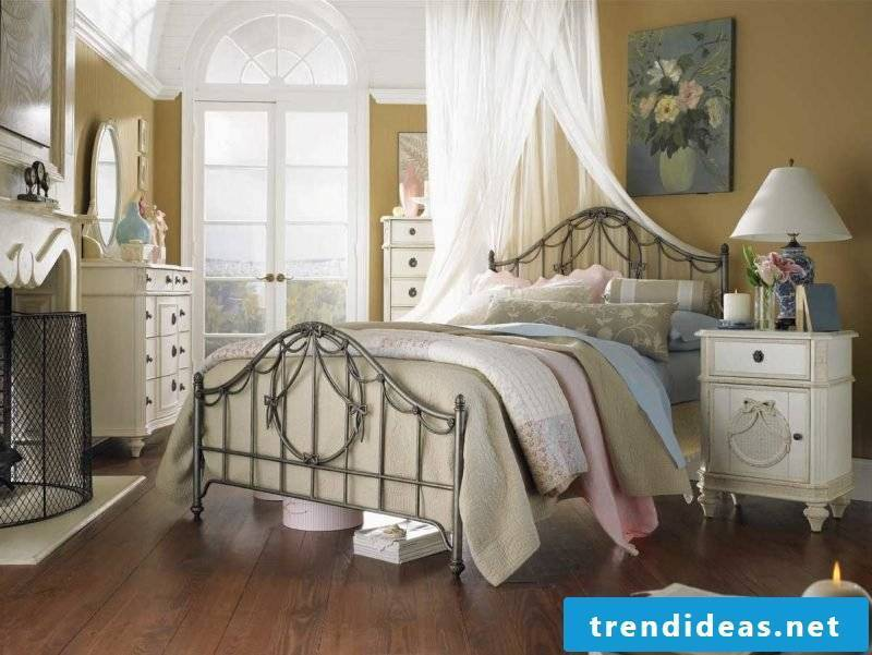 Country style furniture made of rattan braided wardrobe bed bedroom white