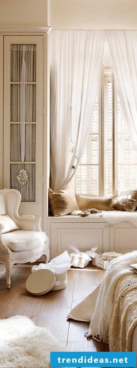 Country house furniture white chair bedroom