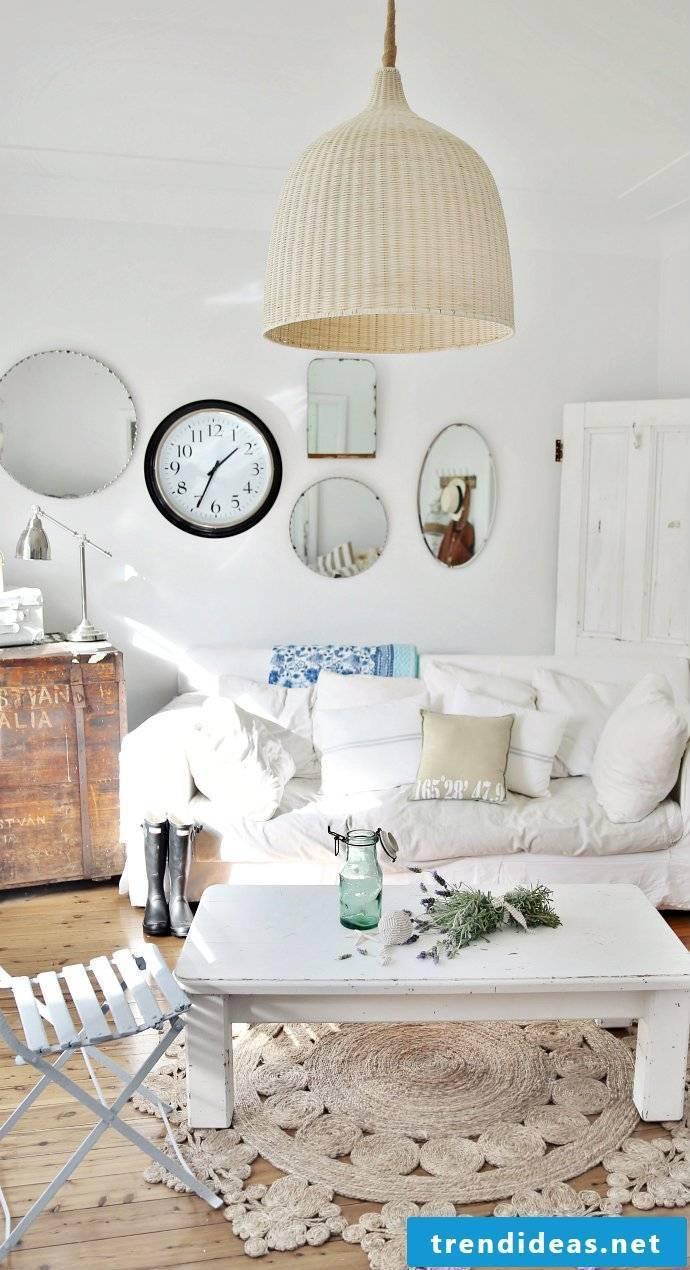 Country style furniture white table wood sofa design living room decorating deco ideas