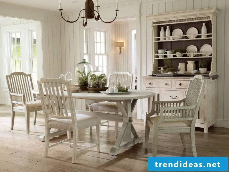 Furnishing country style furniture white design dining room dining chair wooden ideas rustic furniture