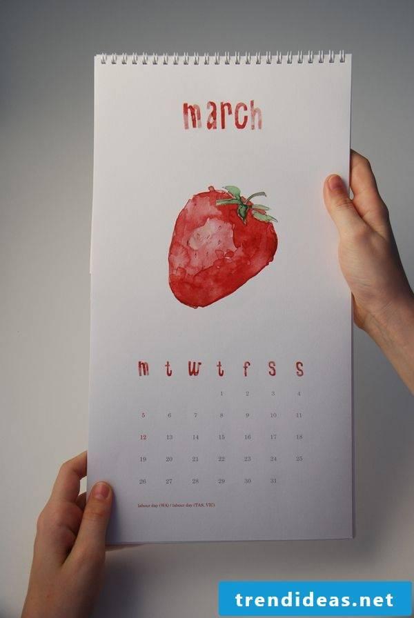 Ideas for a XXL poster as a calendar on the wall