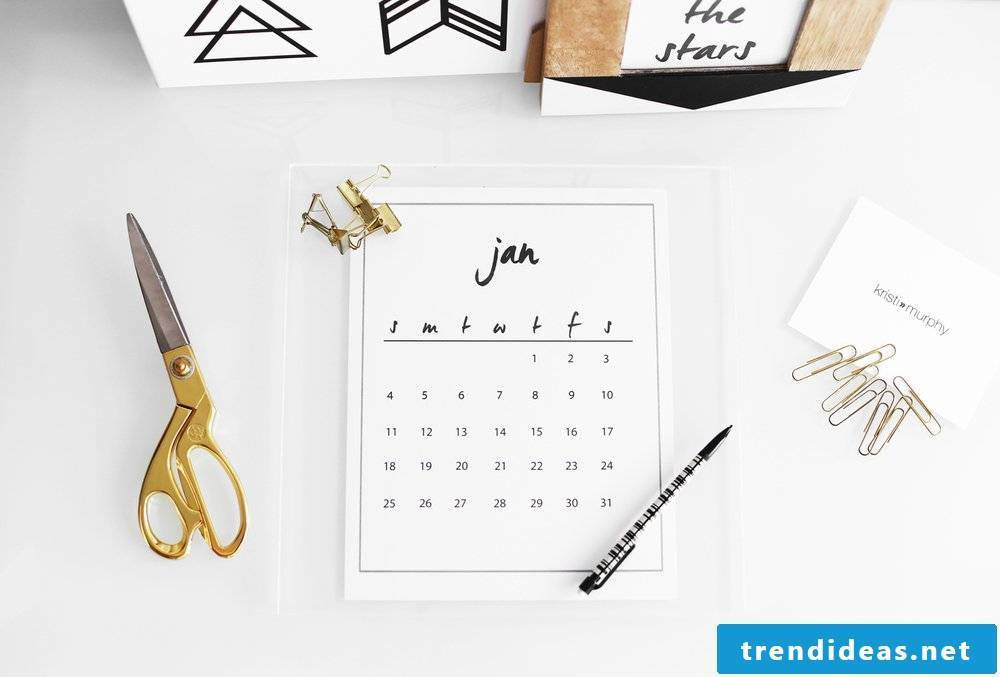 With the help of our guide, you can make a calendar yourself!