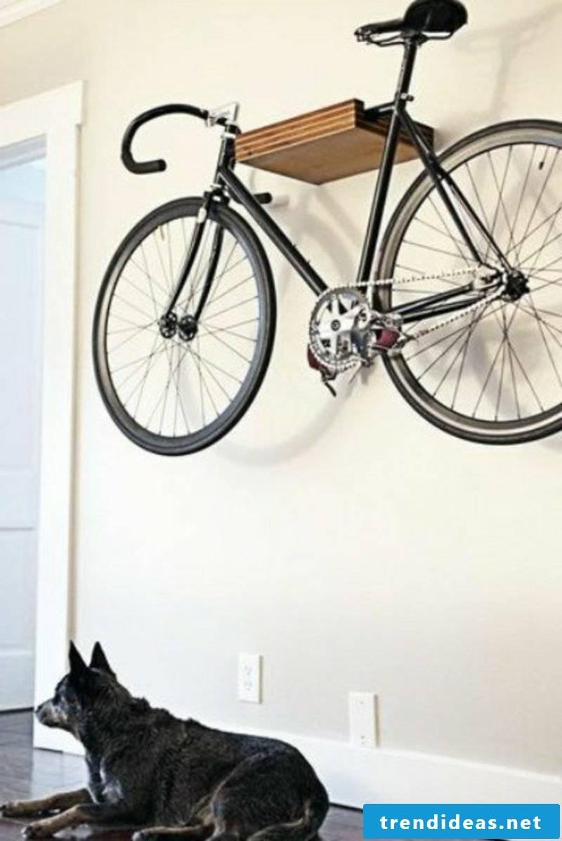 bike holder wall bike wall