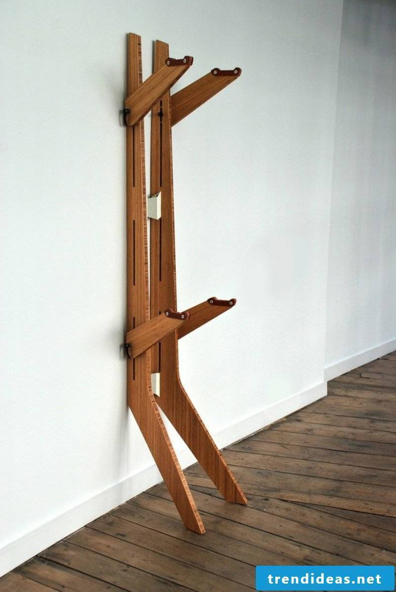 Bicycle holder wall branchline bamboo