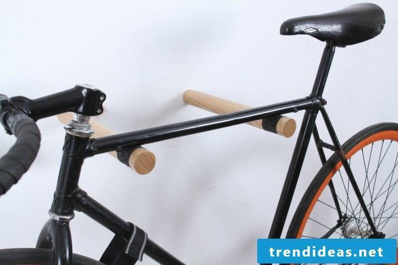 bicycle holder wall wood holder