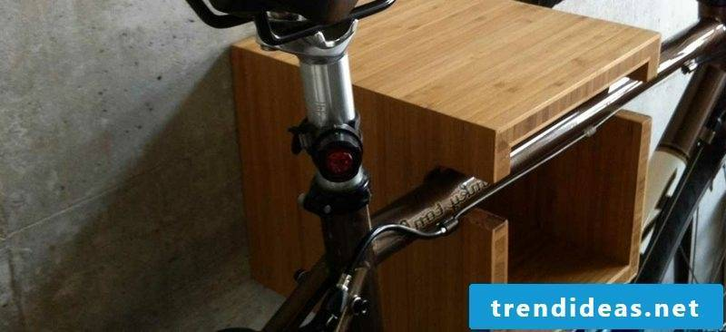 bicycle holder wall wooden case
