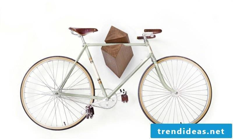 bicycle holder wall storage stand wood ideas