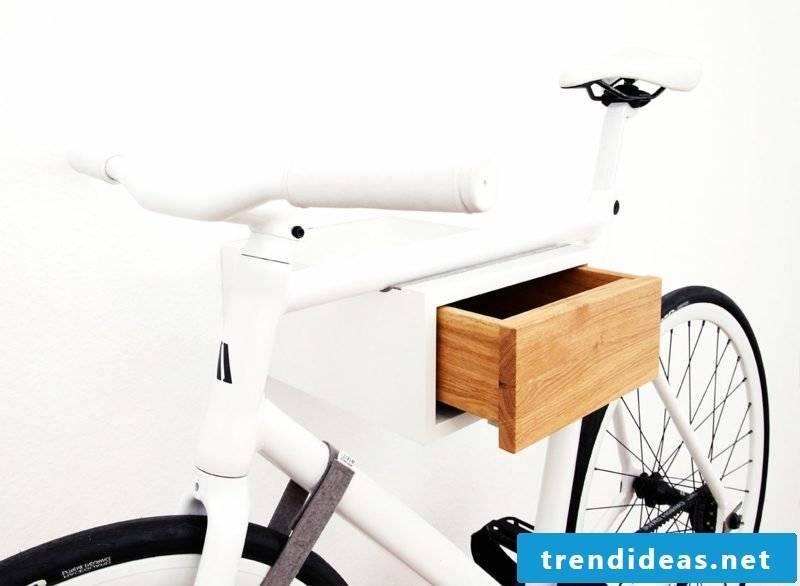 bicycle holder wall tian oak white