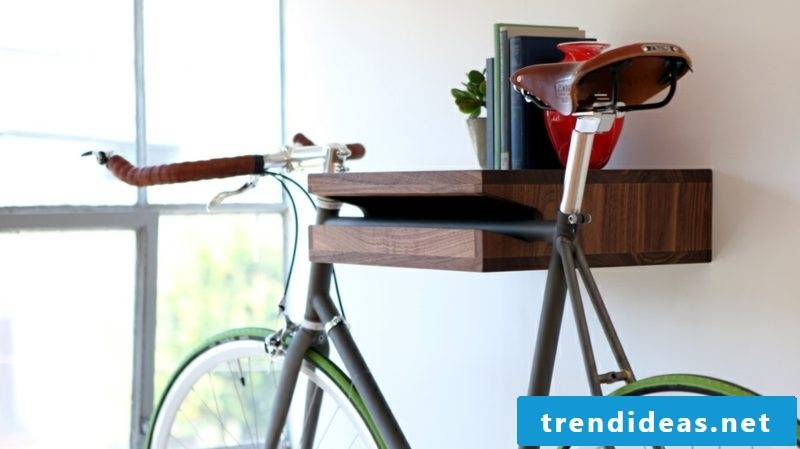 bicycle holder wall walnut