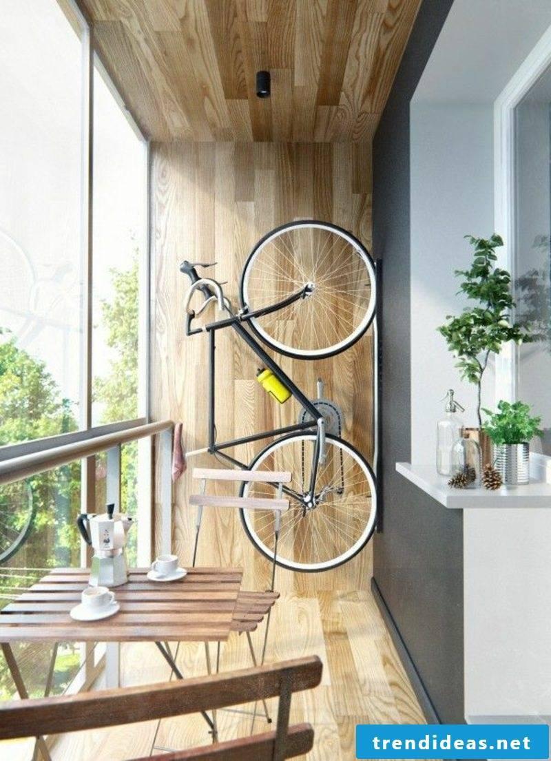 Bicycle holder wall balcony storage