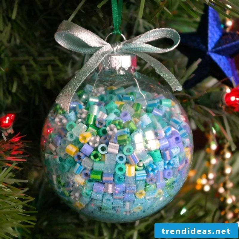 Iron-on beads templates Christmas original ideas Christmas tree decorations